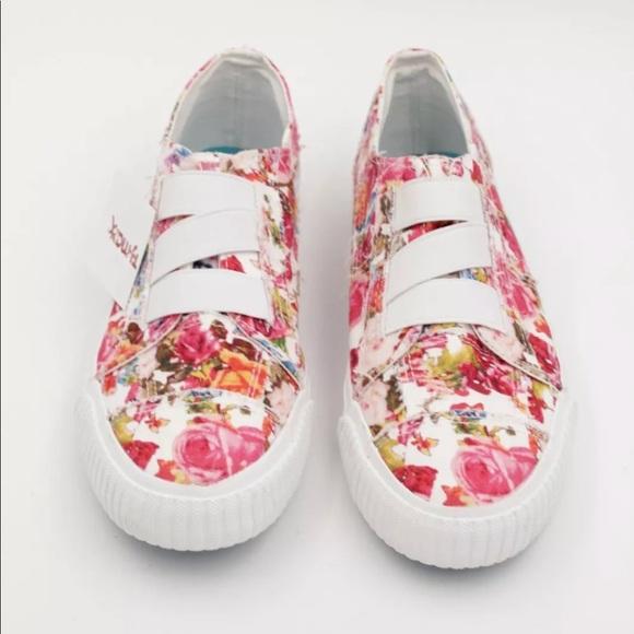 Blowfish Malibu floral slip on sneakers size 9 1 2 1ab72f524d0f